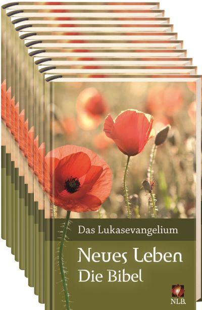 Verteilpaket Lukas-Evangelium Mohnblume Neues Leben