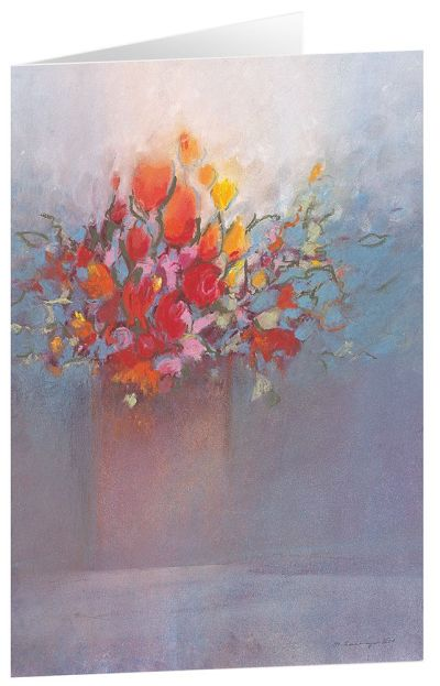 "Kunstkarten ""Blumengruß"" - 5 Stk."