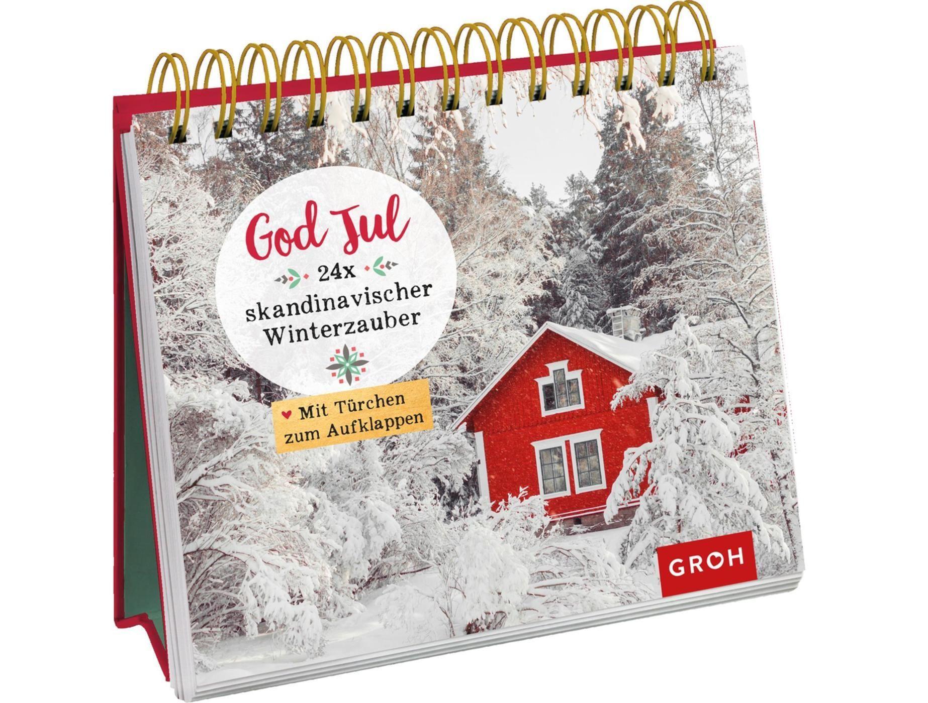 God Jul 24x skandinavischer Winterzauber - Aufstellbuch
