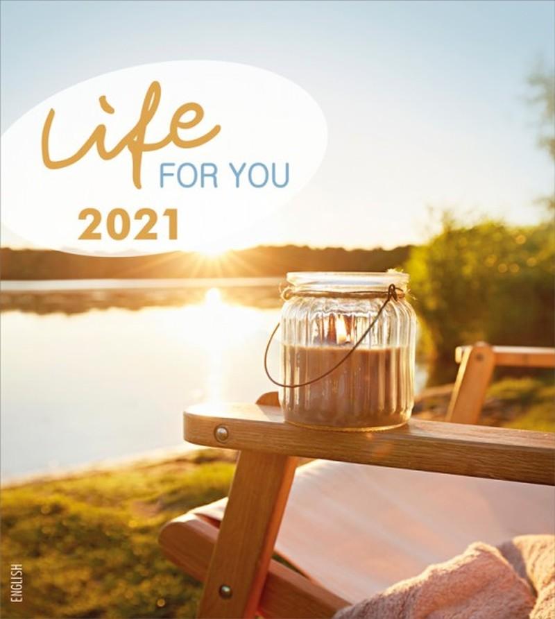 Leben für Dich 2021 - Englisch Postkartenkalender