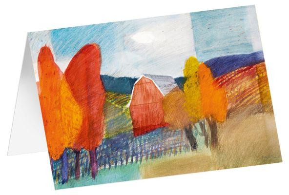 """Kunstkarten """"Herbstlaub"""" - 5 Stk."""
