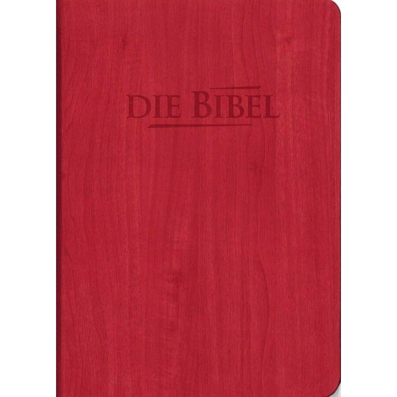 Die Heilige Schrift - Taschenbibel rot, Holzoptik
