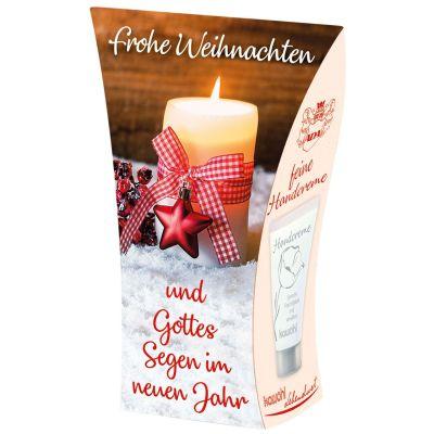 """Handcreme """"Frohe Weihnachten und Gottes Segen im neuen Jahr"""""""