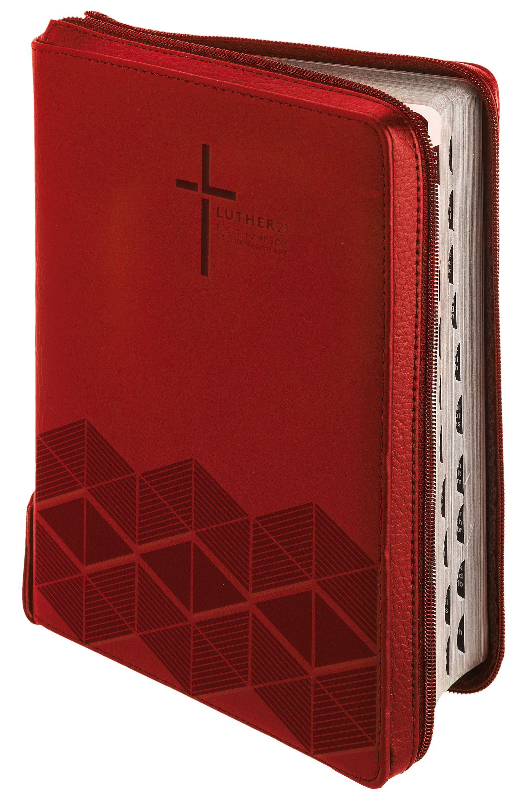 Luther21 - F.C.Thompson Studienausgabe - Taschenausgabe Kunstleder rot