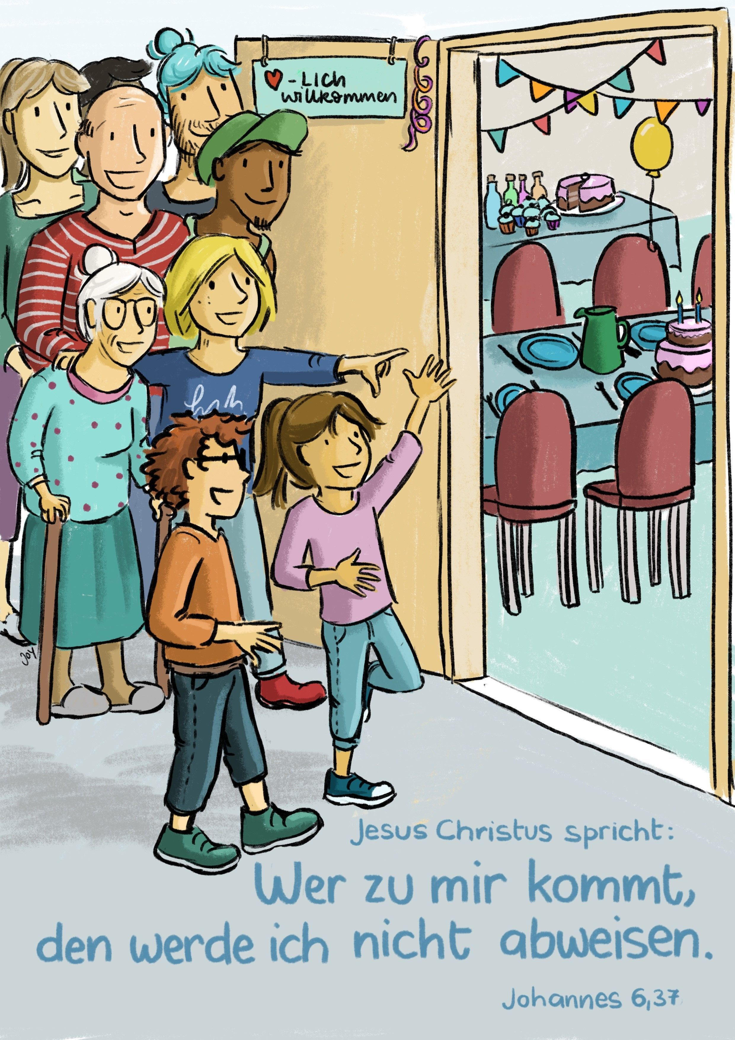 Jahreslosung 2022 - Kinder-Edition Poster A4